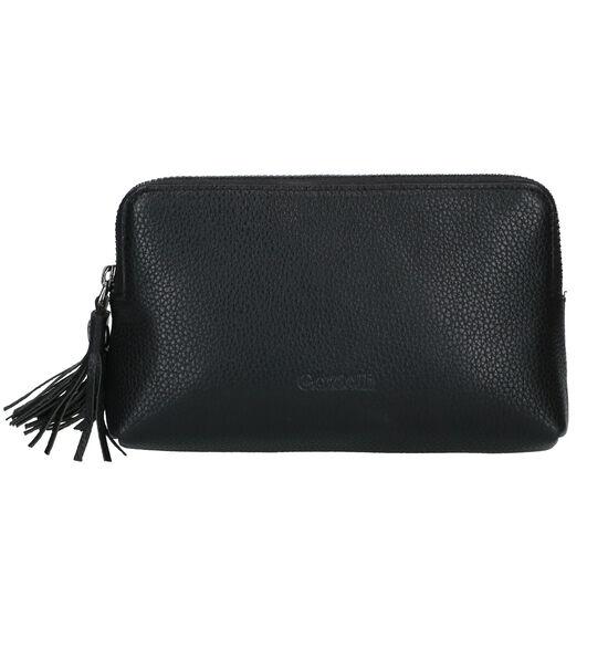 Euro-Leather Zwart Make-up Tasje