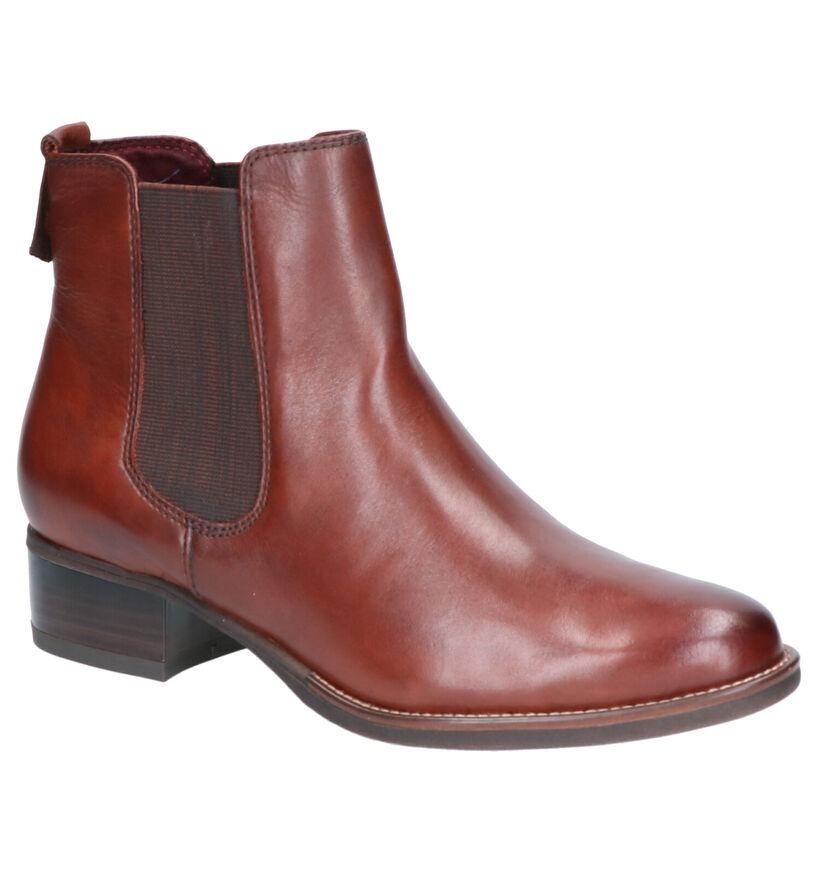 Tamaris TOUCH it Cognac Boots in leer (257214)