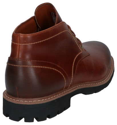 Clarks Batcombe Chaussures Hautes en Cognac en cuir (256231)