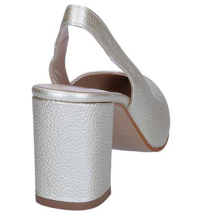 JHay Escarpins à talon ouvert en Or en cuir (247954)