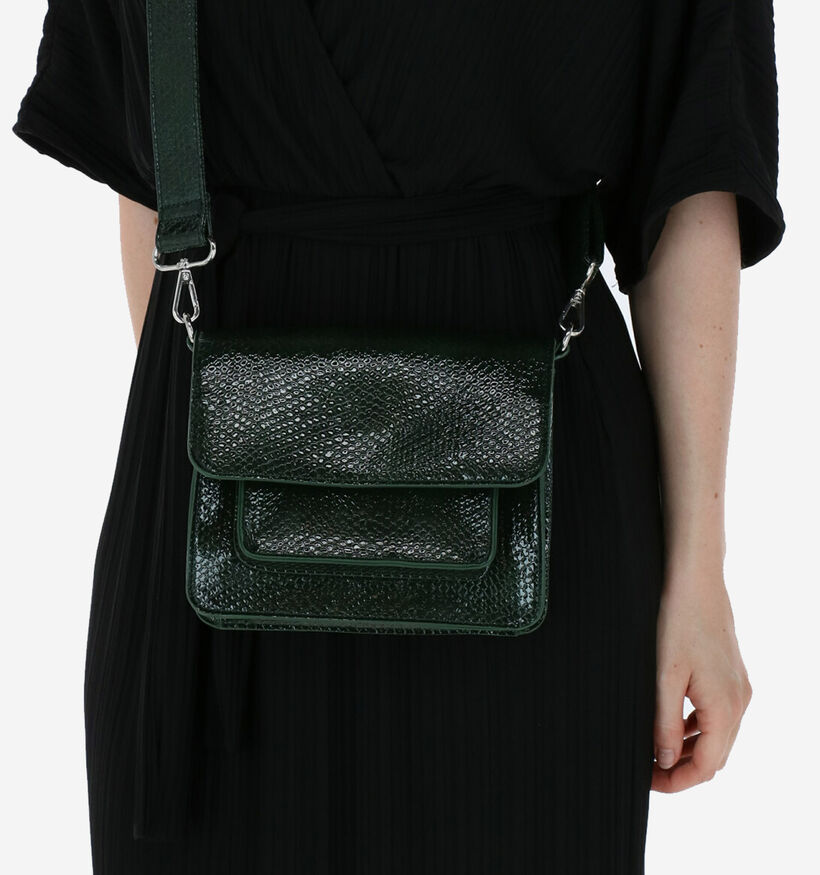 Hvisk Cayman Pocket Sac Porté Croisé en Vert en simili cuir (276168)