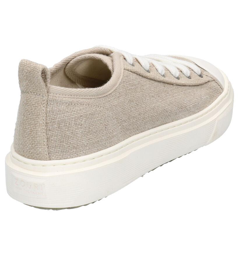 ZOURI Mahi Mahi Taupe Sneakers in stof (275068)