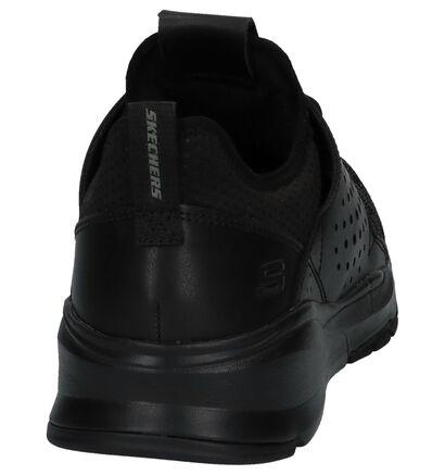 Zwarte Skechers Relven Velton Lage Sneakers in stof (224300)