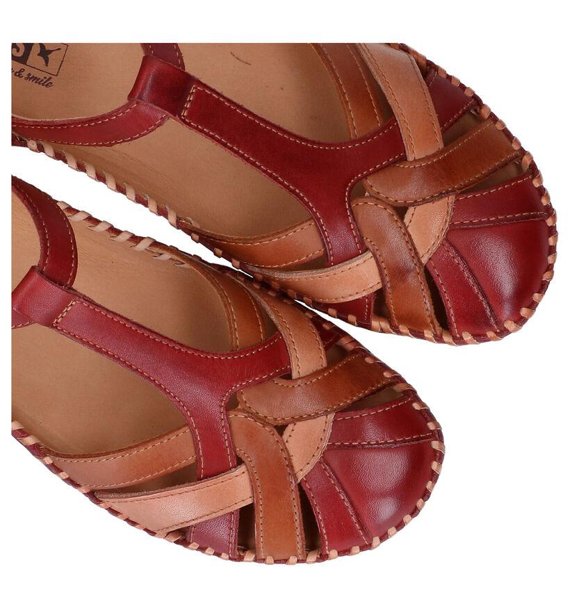Pikolinos Ballerines en Rouge foncé en cuir (289172)
