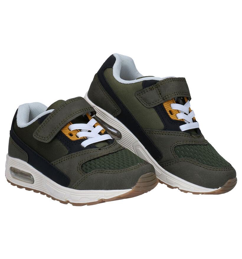 Milo & Mila Kaki Sneakers in stof (280836)