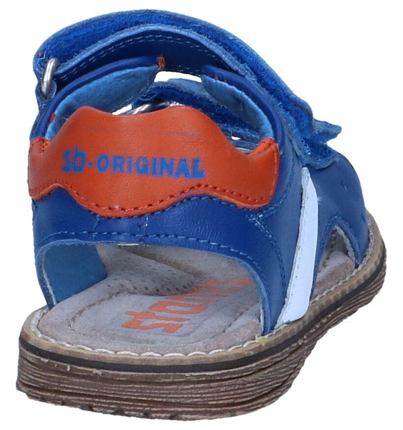 STONES and BONES Sandales en Bleu foncé en cuir (240645)