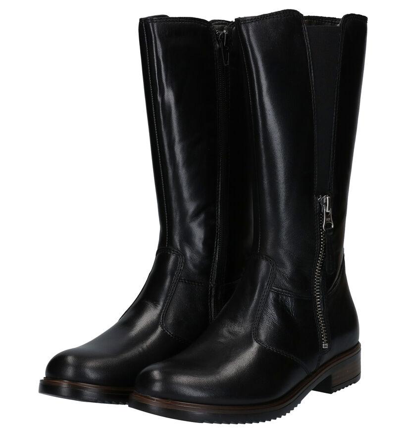 Loli Laly Bottes hautes en Noir en cuir (278476)