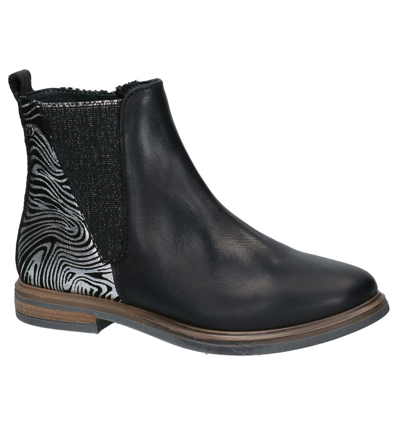 STONES and BONES Gilla Bottines en Noir en cuir (255535)