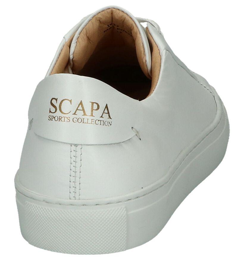 Scapa Baskets basses en Blanc en cuir (246080)