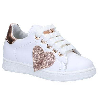 K3 Chaussures basses en Blanc en simili cuir (266223)