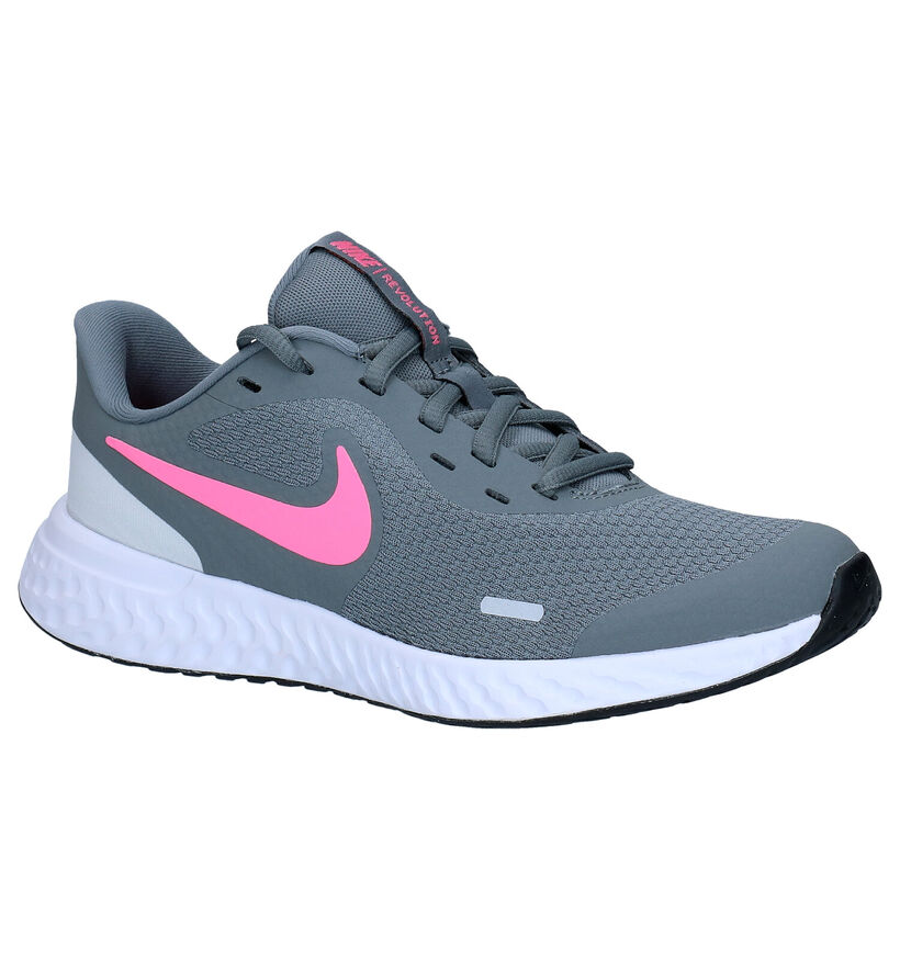 Nike Revolution Baskets en Noir en simili cuir (274604)
