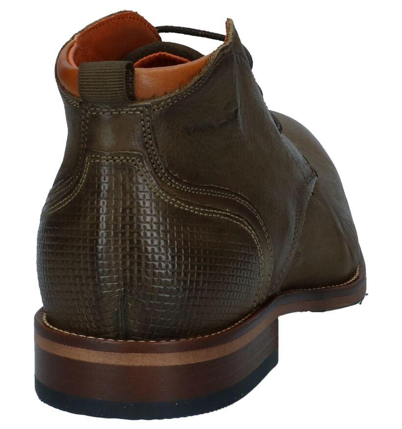 Van Lier Chaussures hautes en Vert en cuir (233723)
