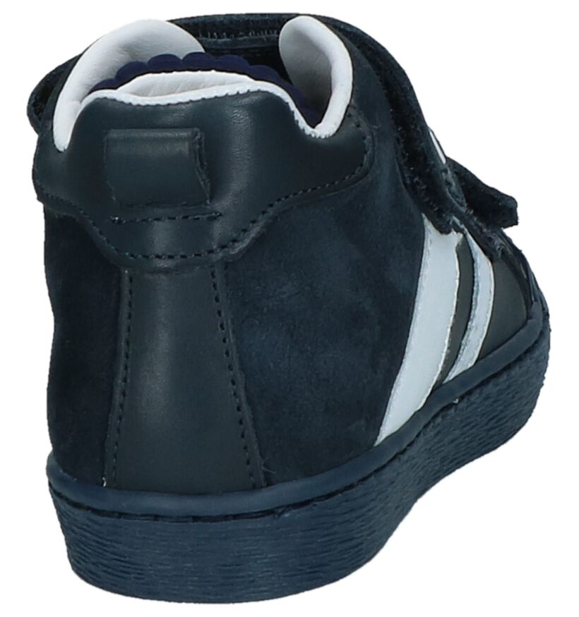 STONES and BONES Chaussures hautes en Bleu foncé en cuir (223446)