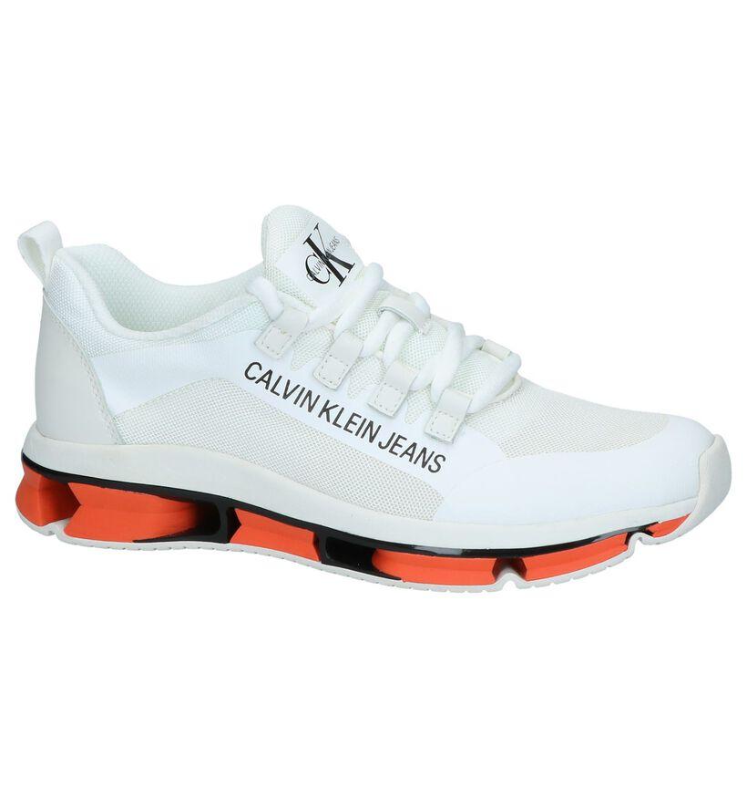 Witte Sneakers Calvin Klein Lolas in stof (241602)