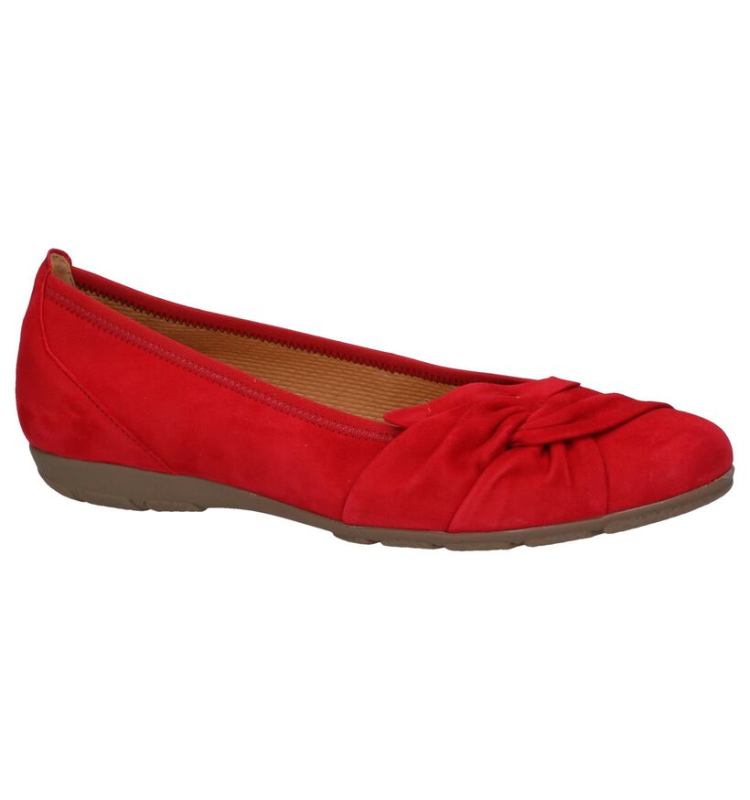 Hovercraft Ballerines en Rouge en daim (237762)