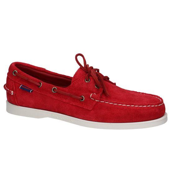 Sebago Chaussures bateau en Rouge foncé