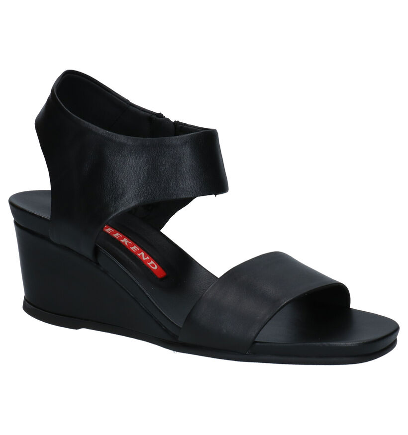 Weekend Sandales à talons en Noir en cuir (273090)