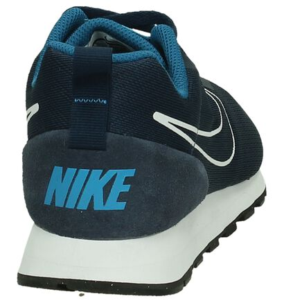 Nike MD Runner Baskets basses en Bleu foncé en textile (198271)