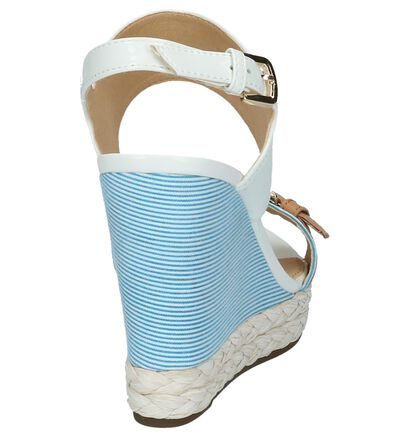 Witte Laké Sandalen met Sleehak Geox, Wit, pdp
