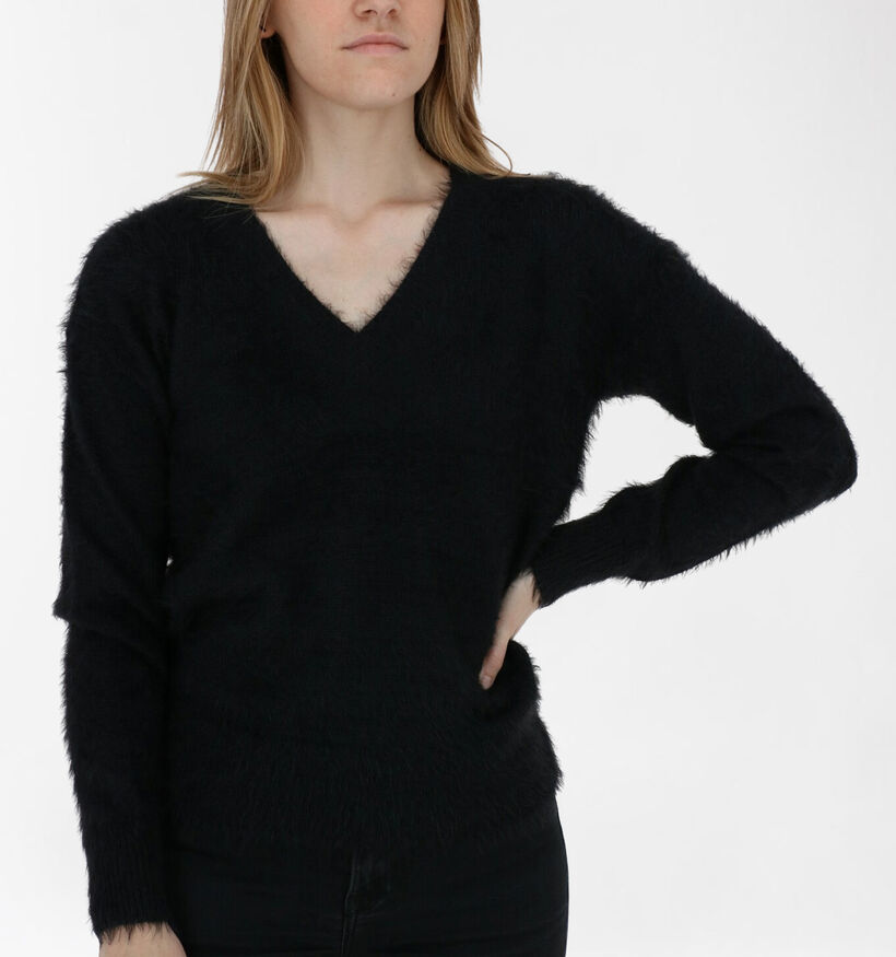 Vero Moda Poilu Pull en Noir (284389)