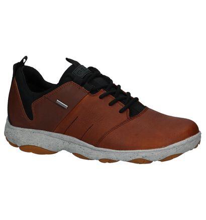 Geox Chaussures basses en Noir en cuir (223483)
