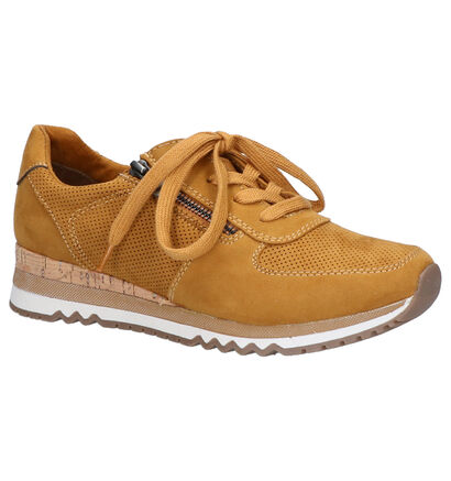 Marco Tozzi Gele Sneakers in daim (253792)