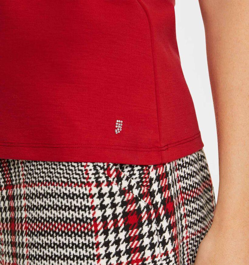 comma T-shirt en Rouge (292867)