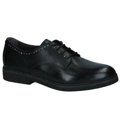 Tamaris Chaussures à lacets en Noir en cuir (226775)