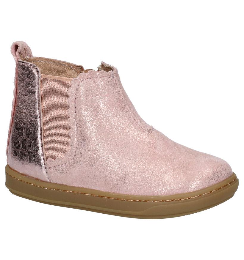 Shoo Pom Bouba Roze Hoge Schoentjes in leer (279223)