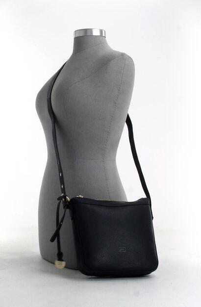 Crinkles Sacs porté croisé en Noir en cuir (261918)