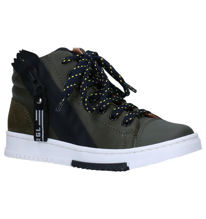 Romagnoli Chaussures hautes en Vert kaki en cuir (281522)