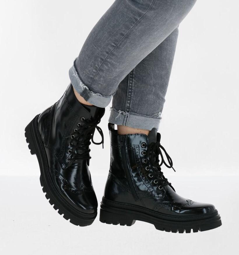 Gabor Best Fitting Zwarte Boots in lakleer (282395)