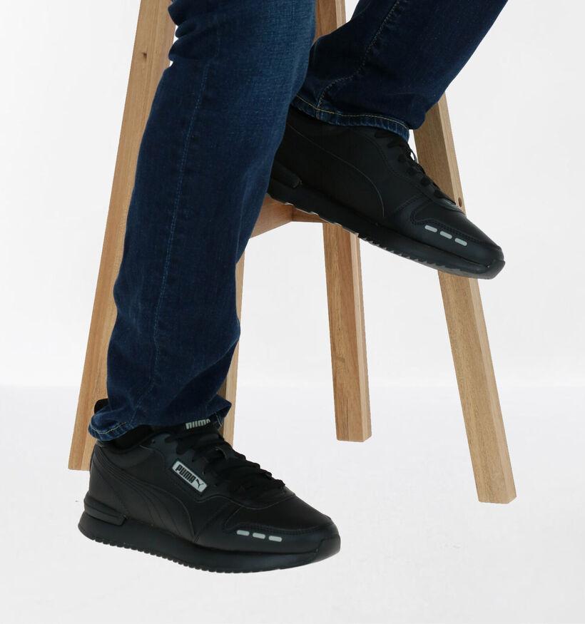 Puma Baskets basses en Noir en textile (276742)