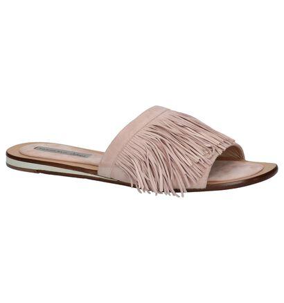 Tosca Blu Roze Slippers in daim (214131)