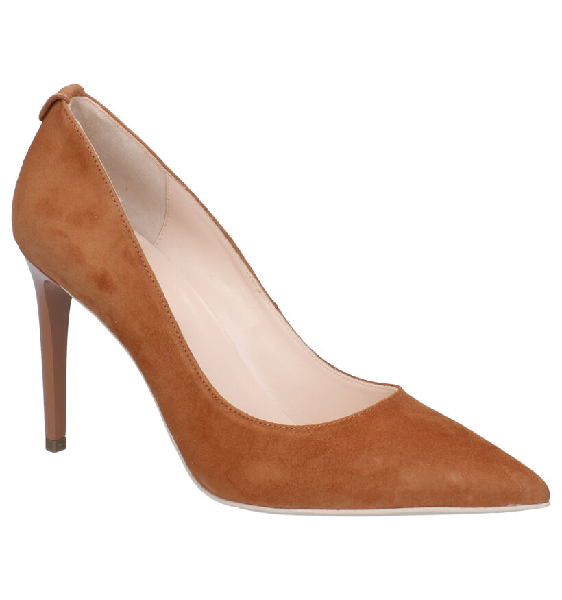 NeroGiardini Cognac Pumps in daim (270576)