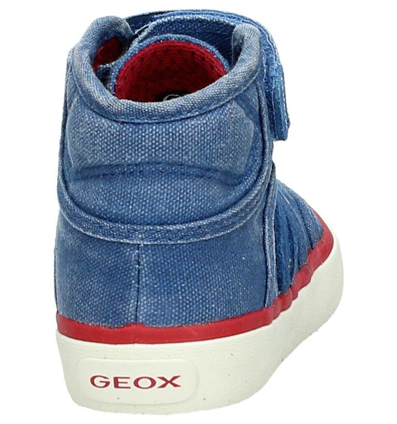 Geox Baskets hautes en Bleu clair en textile (170510)