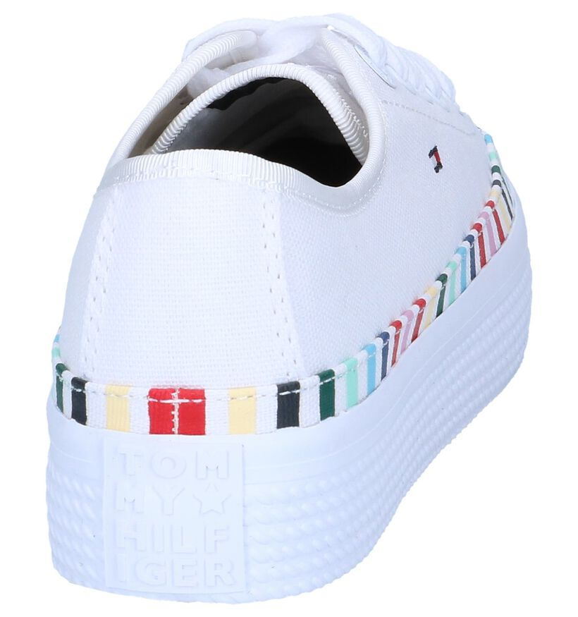 Witte Sneakers Tommy Hilfiger Rainbow in stof (241822)