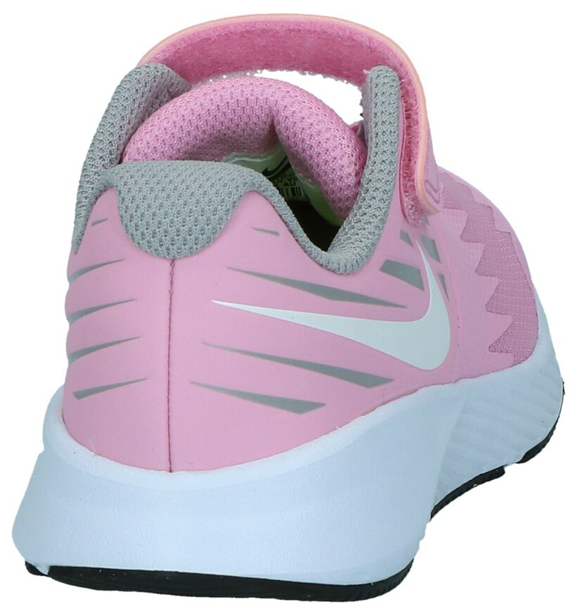 Nike Star Runner Baskets basses en Rose clair en textile (249987)