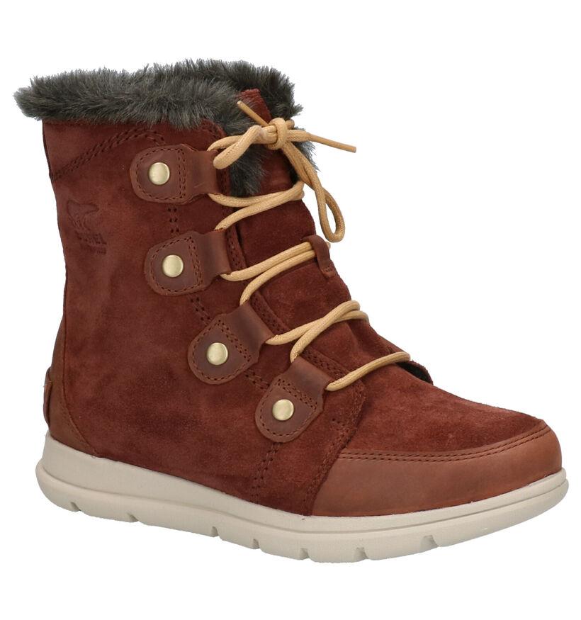 Sorel Explorer Joan Snowboots Bruin in daim (255383)