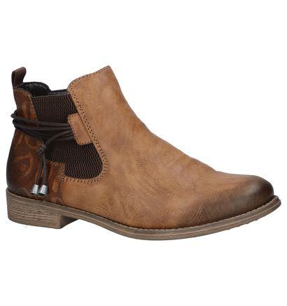 Cognac Chelsea Boots met Rits Rieker , Cognac, pdp