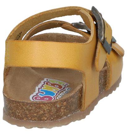 Bumba Sandales en Jaune foncé en cuir (247822)