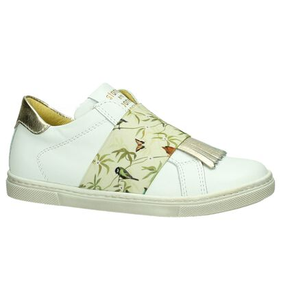 STONES and BONES Chaussures slip-on en Blanc en cuir (190855)