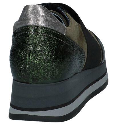 Kaki Sneakers Tine's Forma in daim (233954)