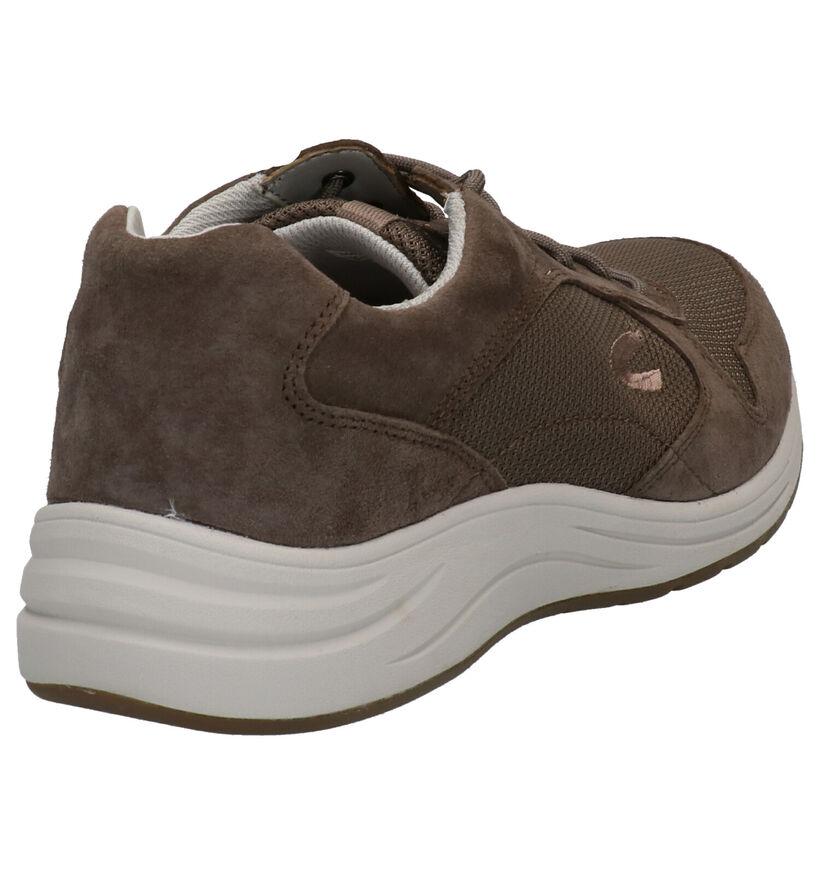 Camel Active Fusion Chaussures à lacets en Taupe en textile (271299)