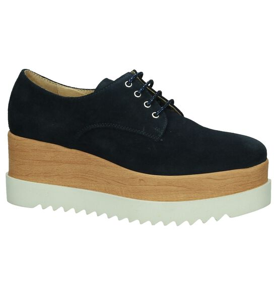 Tine's Chaussures à lacets en Bleu foncé