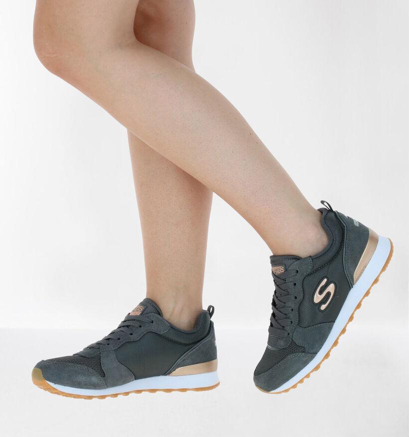 Skechers Originals Grijze Sneakers in daim (277901)