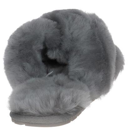 EMU Mayberry Zwarte Pantoffels in wol (231583)