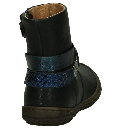 Romagnoli Bottes basses en Bleu foncé en cuir (204019)