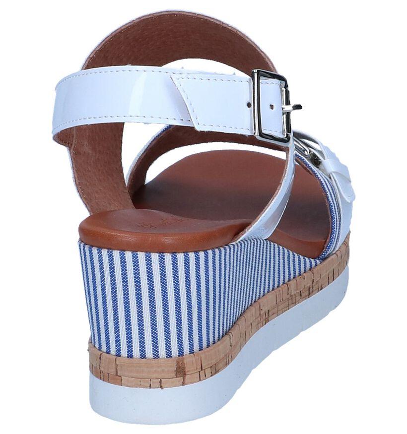 Witte Sandalen met Sleehak River Woods Pasta in kunstleer (246519)