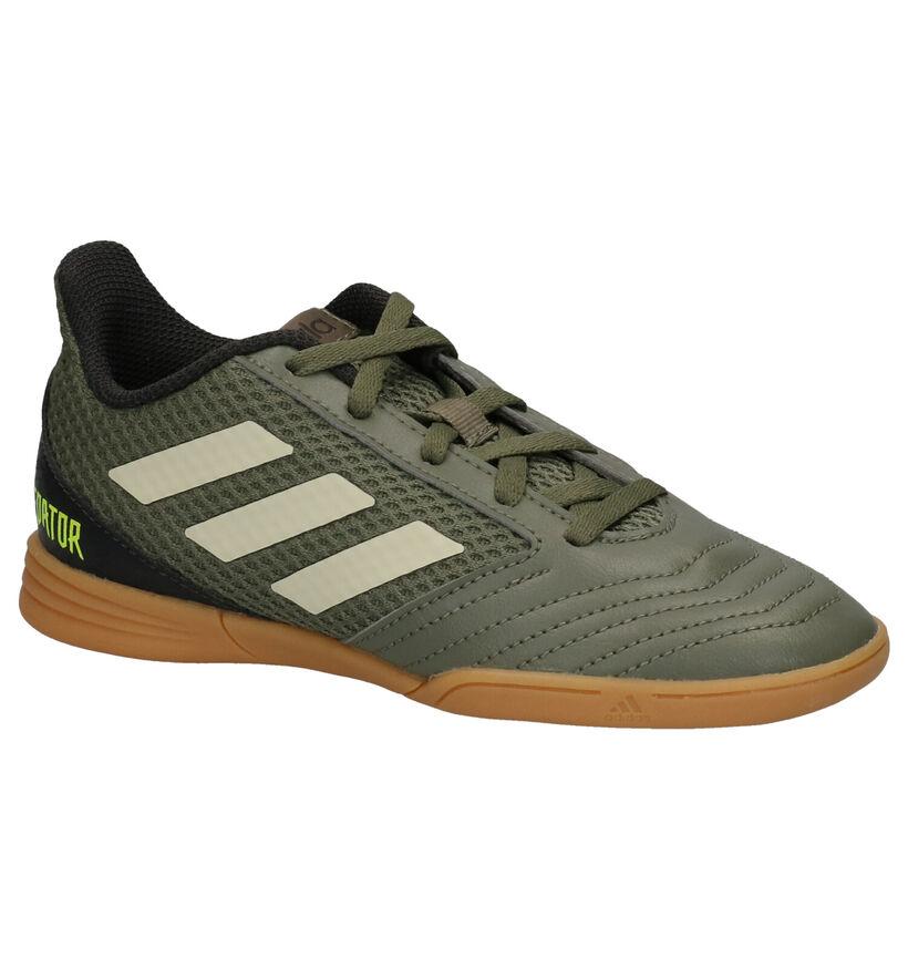 adidas Predator 19.4 Chaussures de foot en Vert kaki en simili cuir (262647)